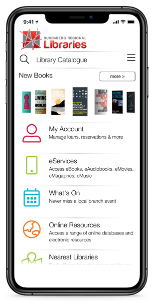 Library Mobile App on iPhone X Max 2020